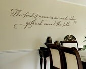 Dining Room Wall Decal - The Fondest Memories are made when gathered around the table - Family Wall Decal - Kitchen Wall Decal