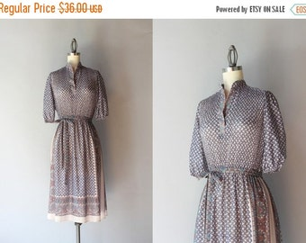 STOREWIDE SALE 1970s Dress / Vintage 70s Sheer Paisley Dress / Seventies India Inspired Dress