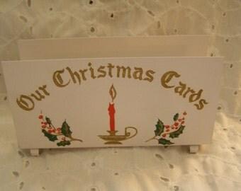 Vintage Metal Christmas Card Holder ~ Display