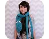INSTANT DOWNLOAD - Great for halloween! - epic octopus scarf with tentacles - PDF crochet pattern