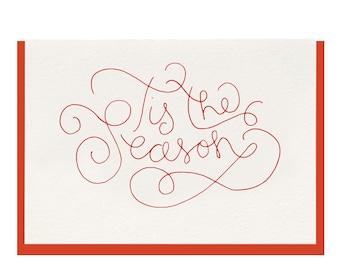 "Letterpress ""Tis The Season"" Greeting"