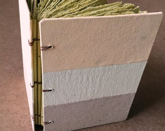 Yellow journal, handmade paper journal, sketch book, travel journal, guest book, recycled guestbook, yellows, sunshine, striped book, diary