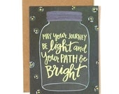 May Your Path Be Bright Illustrated Card // 1canoe2