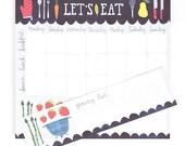 Let's Eat Menu Planner Notepad