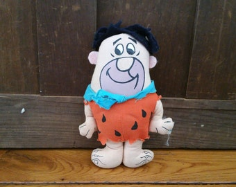 Vintage Stuffed Fred Flintstone by Knickerbocker 1982