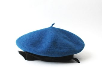 1980's CHANEL Royal Blue Beret Hat