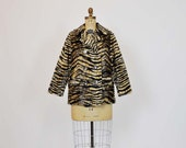 1960s coat / Princess Tiger Lily  60's Faux Tiger Print Coat