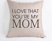 Mother's Day Pillow Cover Customizable