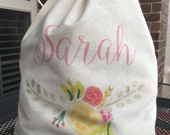 Personalized Monogrammed Lingerie Travel Bag Tote