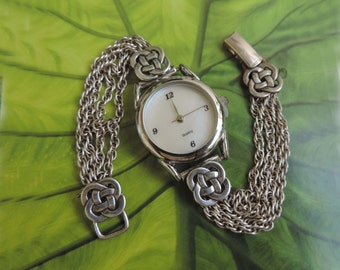 Vintage Celtic Sterling Silver Ladies Watch