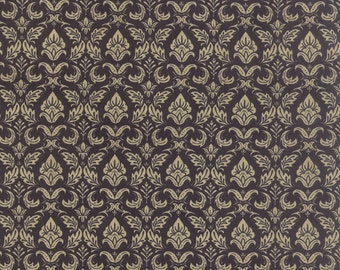Moda Black Tie Affair 30421 16 Black and Tan Damask by the yard