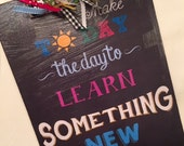 Teacher Personalized Clipboard with Quote