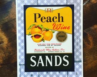 Vintage Wine Label Blank Card