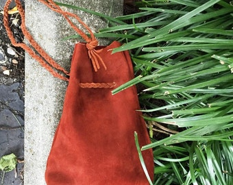 Rust Suede Pouch