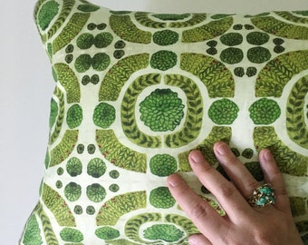 Boxwood Garden Decorative Throw Pillow and Insert