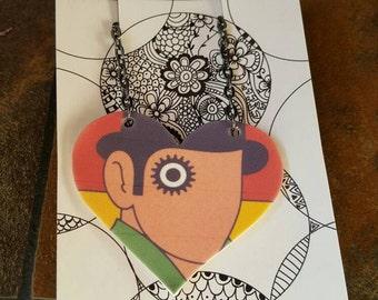 Clockwork Orange Shrink Art Necklace