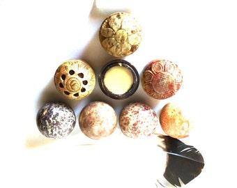 VEGAN SOLID PERFUME- 3 scents- Bayou Moon, Gypsy Rose, Wild Earth