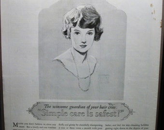 """Toil ... 104  """"Ivory Soap""""  Ad - October 1925"""