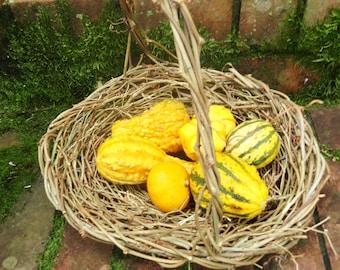 Set of 4 Wedding Table Baskets, Wild Natural Wicker Baskets, Eco Friendly Grapevine, Autumn Fall Arrangement Baskets, GTB