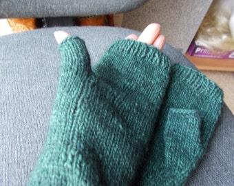 Luxury Man's fingerless  gloves  Merino wool gloves Possum man's gloves
