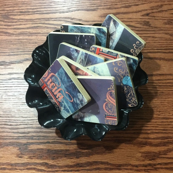 SHEILA E recycled Romance 1600 music album cover coasters with record bowl