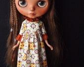 Ruffle Sleeve Dress fir Blythe Dolls