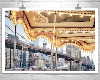 Jane's Carousel, Brooklyn Bridge, New York Art, NYC Photo, Manhattan Art, New York City, Fine Art Photography, Merry Go Round, Abstract Art