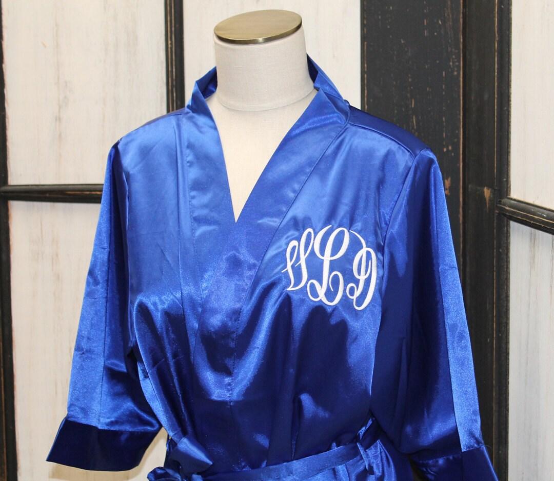 monogrammed satin robe set bridesmaid robes bridal party