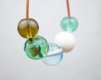 Hand Blown Glass // Contemporary Jewelry // Blown Glass // Minimalist Necklace