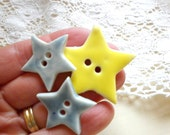 Little Stars,  A Set Of 3 Sew On  Buttons