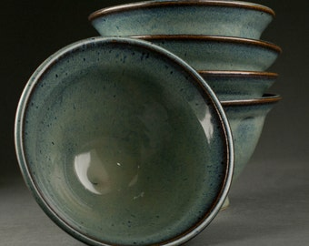 Reserved: Set of 5 Stoneware Bowls