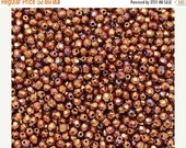 Save 15 Sale 3mm Luster Iris Opaque Red , Faceted Round Beads, Fire polish Czech Glass, Sold 50 Piece Strand