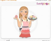SALE Woman baking macaroon cookes, digital PNG clipart (Hope 531)