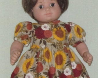 American Girl Bitty Baby Doll Dress Fall Flowers