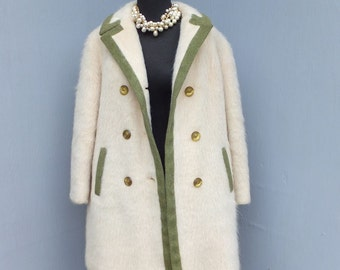 Vintage Mohair Coat Styled by Davis a Division of Jonathan Logan, Heavy Coat, Winter Coat