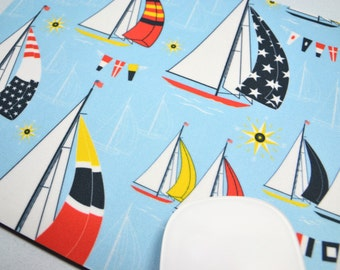 Buy 2 FREE SHIPPING Special!!   Mouse Pad, Computer Mouse Pad, Fabric Mousepad         Sailing