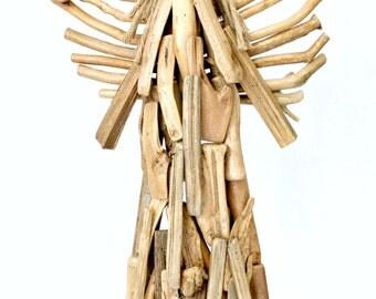 Driftwood Angel - Beach Decor - Angel - Driftwood - Coastal Decor - Rustic Decoration -  Angel - Rustic Wood Angel