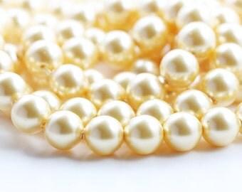 10pcs Swarovski 5810 Crystal Pearl-GOLD 8mm (SWP47001)