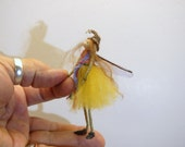 ooak poseable SUPER TINY PIXIE fairy ( #1 ) polymer clay art doll by DinkyDarlings elf pixie faery