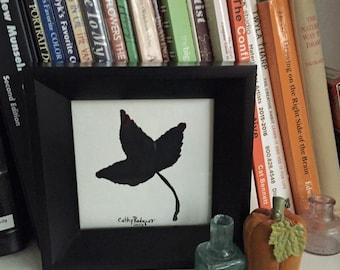 Gouache Autumn Leaf (#2) , Small Painting