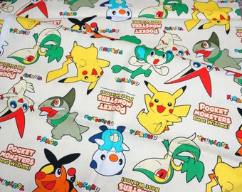 pokemon fabric 50 cm by 106 cm or 19.6 by 42 inches Half meter
