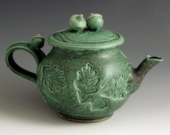 Green Woodland Teapot
