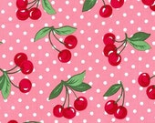 Two (2) Yards -Cherry Dot Bloom Pink Fabric By Michael Miller CX6561-BLOM-D