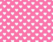 One (1) Yard - Hearts all Over in Raspberry Pink by Michael Miller Fabrics CX5920-RASP-D