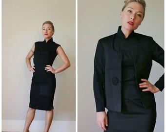 ON SALE 1950s Asian Evening Dress & Jacket >>> Size Extra Small (xxs/xs)
