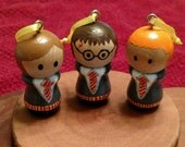 Harry Potter - Set of 3 miniature ornaments FREE SHIPPING