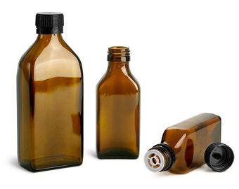 Glass Bottles 100ml(3oz) - Old Fashion Medicine Style