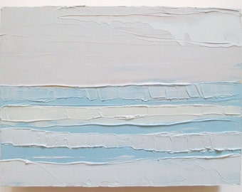 Abstract Ocean Painting: Lavender Mist, oil painting, ocean painting, abstract  beach painting