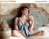 ON SALE Lingerie set - Babydoll and Panty- Organic Cotton and Soy set Lingerie, Underwear / Organic Nightwear/ slip / babydoll nightie / hon