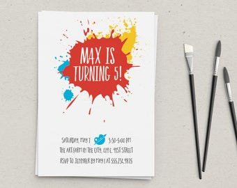 Art Splat Party Invitation